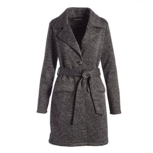 Steve Madden Heather Grey Charcoal Trench Coat